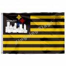 Pittsburgh Steelers Helmet Pittsburgh Skyline Flag 3ft x 5ft Polyester NFL Team