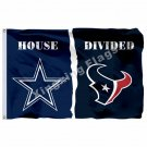 Dallas Cowboys Houston Texans House Divided Flag 3ft X 5ft Polyester NFL1 Banner