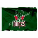 Milwaukee Bucks Flag 3ft X 5ft Polyester NBA1 Milwaukee Bucks Banner Flying Size