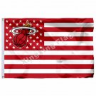 Miami Heat Nation Flag 3ft X 5ft Polyester NBA1 Miami Heat Banner Flying Size No