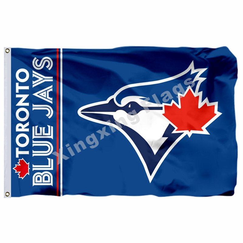 Toronto Blue Jays Wordmark Flag 3ft X 5ft Polyester MLB Toronto Blue Jays Banner