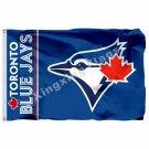 Toronto Blue Jays Wordmark Flag 3ft X 5ft Polyester MLB Toronto Blue Jays Banner