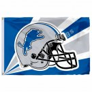 Detroit Lions Helmet Lighting Flag 3ft X 5ft Polyester NFL Detroit Lions Banner