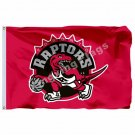 Toronto Raptors Flag 3ft X 5ft Polyester NBA1 Toronto Raptors Banner Flying Size