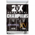Oakland Raiders 2X Super Bowl Champions Flag 3ft X 5ft Polyester NFL1 Team Banne