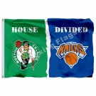 Boston Celtics New York Knicks House Divided Flag 3ft X 5ft Polyester NFL1 Banne