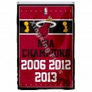 Miami Heat World Champions Flag 3ft X 5ft Polyester NBA1 Banner Flying Size No.4