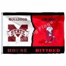 Mississippi State Bulldogs Mississippi Rebels Ole Miss House Divided Flag 3ft X