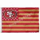 San Francisco 49ers Flag 3ft X 5ft Polyester NFL1 Banner Size No.4 90*150cm Cust