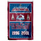 Colorado Avalanche Stanley Cup Champions Flag 3ft x 5ft Polyester NHL Banner Fly