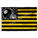 Pittsburgh Steelers with modified US Flag 3ft x 5ft Polyester NFL Banner Flying