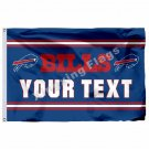 Buffalo Bills Custom Your Text Flag 3ft X 5ft Polyester NFL1 Team Banner Flying