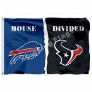 Buffalo Bills Houston Texans House Divided Flag 3ft X 5ft Polyester NFL Banner S