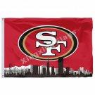 San Francisco 49ers With San Francisco City Skyline Flag 3ft X 5ft Polyester NFL