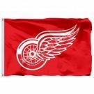 Detroit Red Wings Flag 3ft x 5ft Polyester NHL Banner Detroit Red Wings Flying S