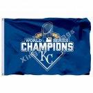 Kansas City Royals  Flag 3ft x 5ft Polyester MLB Banner Flying Size No.4 90*150c