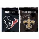Houston Texans New Orleans Saints House Divided Flag 3ft X 5ft Polyester NFL1 Ba