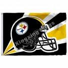Pittsburgh Steelers Helmet Lighting Flag 3ft X 5ft Polyester NFL Pittsburgh Stee