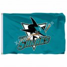 San Jose Sharks Flag 3ft x 5ft Polyester NHL Banner San Jose Sharks Flying Size
