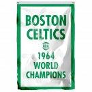 Boston Celtics 1964 World Champions Flag 3ft x 5ft Polyester NBA Team Banner Fly