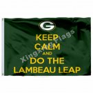 Green Bay Packers Keep Calm Flag 3ft X 5ft Polyester NFL1 Green Bay Packers Bann
