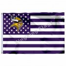 Minnesota Vikings Nation Flag 3ft X 5ft Polyester NFL Banner Flying Size No.4 90