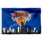 New York Knicks New York Skyline Flag 3ft X 5ft Polyester NBA1 Team Banner Flyin