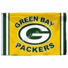 Green Bay Packers Wordamark Flag 3ft x 5ft Polyester NFL Team Banner Flying Size