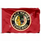 Chicago Blackhawks Stanley Cup Champions Old standard Flag 3ft x 5ft Polyester N