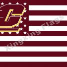 Central Michigan Chippewas Nation Flag 3ft X 5ft Polyester NCAA Banner Flying Si