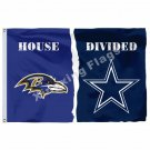 Baltimore Ravens Dallas Cowboys House Divided Flag 3ft X 5ft Polyester NCAA Bann