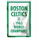 Boston Celtics 1963 World Champions Flag 3ft x 5ft Polyester NBA Team Banner Fly