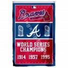 Atlanta Braves World Series Champions Flag 3ft X 5ft Polyester MLB Banner Flying