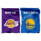 Los Angeles Lakers Nation Golden State Warriors Flag 3ft X 5ft Polyester NBA Los