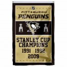 Pittsburgh Penguins Stanley Cup Champions Flag 3ft X 5ft Polyester NHL Banner Fl