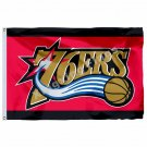 Philadelphia 76ers Large Logo Flag 3ft X 5ft Polyester NBA Philadelphia 76ers Ba