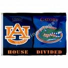 Auburn Tigers Alabama Crimson Tide House Divided Flag 3ft X 5ft Polyester NCAA B
