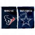 Houston Texans Dallas Cowboys House Divided Flag 3ft X 5ft Polyester NFL1 Banner