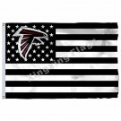 Atlanta Falcons With Modified US Flag 3ft X 5ft Polyester NFL Banner Flying Size