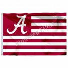 Alabama Crimson Tide With Modified US Flag 3ft X 5ft Polyester NCAA  Alabama Cri
