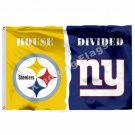Pittsburgh Steelers New York Giants House Divided Flag 3ft X 5ft Polyester NCAA
