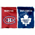 Montreal Canadiens Toronto Maple Leafs House Divided Flag 3ft x 5ft Polyester NH