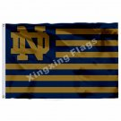 Notre Dame Fighting Irish With Modified US Flag 3ft X 5ft Polyester NCAA  Banner