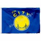 NBA Golden State Warriors Flag 3x5 FT 150X90CM Banner 100D Polyester NBA flag