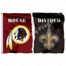RaveWashington Redskins New Orleans Saints  House Divided Flag 3ft X 5ft Polyest