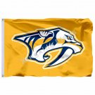 Nashville Predators Large Logo Flag 3ft x 5ft Polyester NHL Banner Nashville Pre