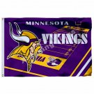 Minnesota Vikings Volumn Flag 3ft x 5ft Polyester NFL Minnesota Vikings Banner F