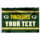Green Bay Packers Custom Your Text Flag 3ft X 5ft Polyester NFL1 Team Banner Fly