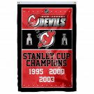New Jersey Devils Stanley Cup Champions Flag 3ft X 5ft Polyester NHL Banner Flyi