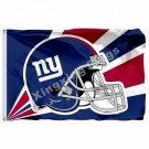 New York Giants Helmet Lighting Flag 3ft X 5ft Polyester NFL1 New York Giants Ba